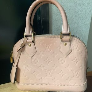 $1100 Louis Vuitton alma BB rose ballerine